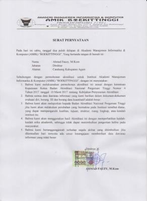 surat pernyataan pengajuan akreditasi institusi